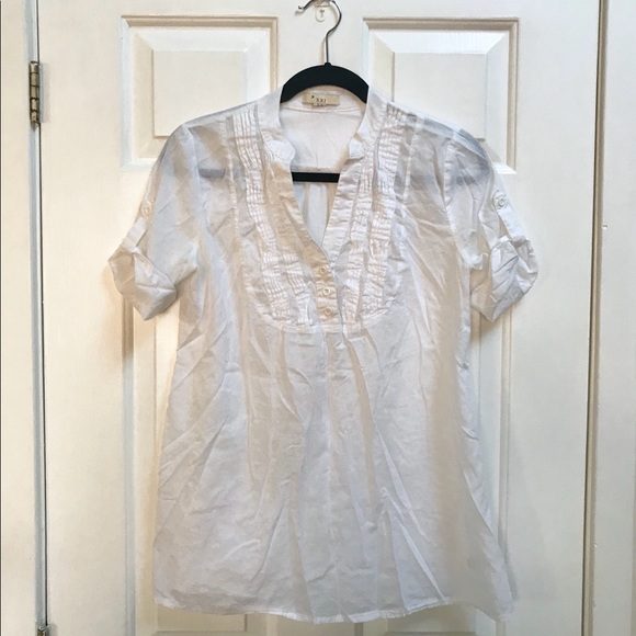 ae017592af6 ... Forever 21 Tops White Sheer Tunic Blouse Poshmark